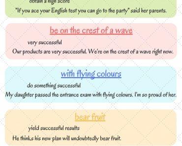 20 English Idiom yang Berkaitan dengan Succes atau Kejayaan