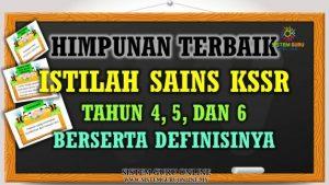 Himpunan Istilah Sains Tahun 4, 5, dan 6 Khas Untuk UPSR
