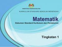 Download Dskp Matematik Tingkatan 1 Bermanfaat Dskp Kssm Matematik Tingkatan 1