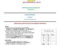Latihan Bahasa Inggeris Tingkatan 2 Berguna Bi Paper 2 Spm Trial 2013
