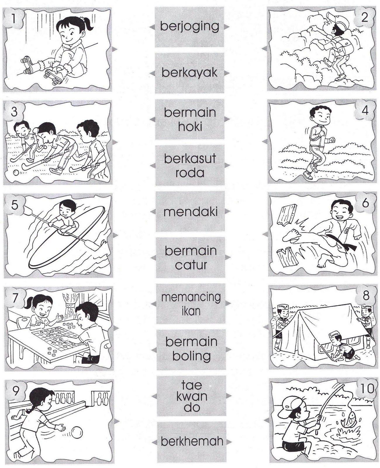 image result for lembaran kerja bahasa melayu tahun 2 kata imbuhan ter sequencing pictures preschool