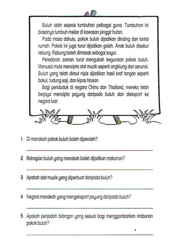 Latihan Bahasa Melayu Tahun 2 Penting Lembaran Kerja Bahasa Melayu Tahun 2 Adib Pinterest Education
