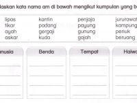 Latihan Bahasa Melayu Tahun 3 Meletup Bahasa Malaysia Tahun 1 Kata Nama Am