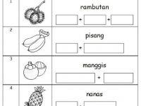 Latihan Bahasa Melayu Tahun 3 Penting Bahasa Malaysia Prasekolah Latihan Buah Buahan