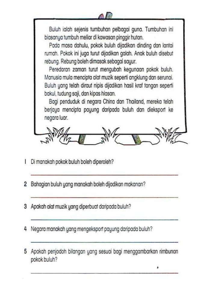 Latihan Bahasa Melayu Tahun 3 Penting Lembaran Kerja Bahasa Melayu Tahun 2 Adib Pinterest Education