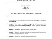 Latihan Bahasa Melayu Tingkatan 1 Menarik Peperiksaan Akhir Tahun Bm