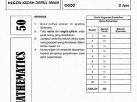 Latihan Matematik Pt3 Baik soalan Percubaann Matematik Pt3 2016 Dan Jawapan Kedah