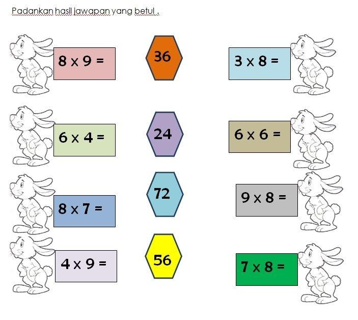 latihan darab matematik kssr tahun 3 tahini worksheets exercises math