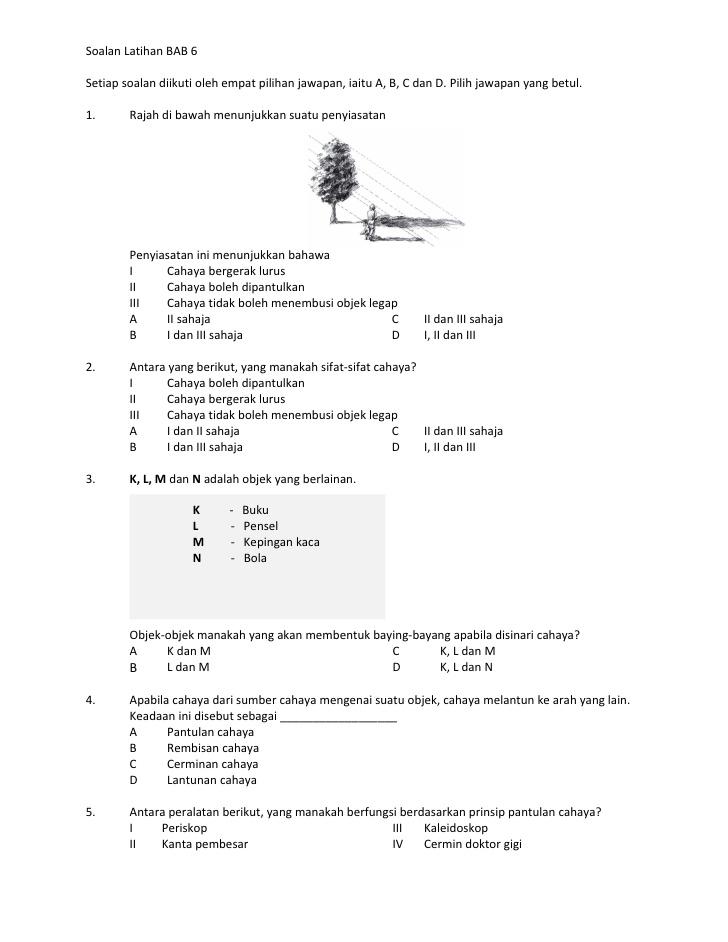 soalan latihan bab 6setiap soalan diikuti oleh empat pilihan jawapan iaitu a b