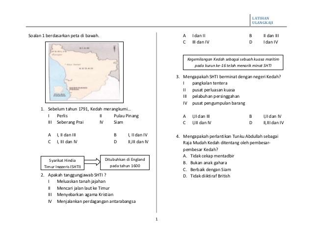 Latihan Sejarah Tingkatan 1 Penting Latihan Sejarah Tingkatan 2