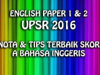 Nota Bahasa Inggeris Upsr Yang Sangat Meletup Terbaik English Paper 1 2 Upsr 2016 Himpunan Nota Tips Skor