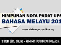 Nota Bahasa Melayu Spm Yang Sangat Penting Himpunan Nota Padat Upsr Bahasa Melayu 2018