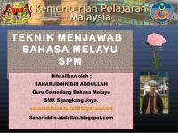 Nota Bahasa Melayu Spm Yang Terbaik Teknik Menjawab soalan Novel Spm Bahasa Melayu