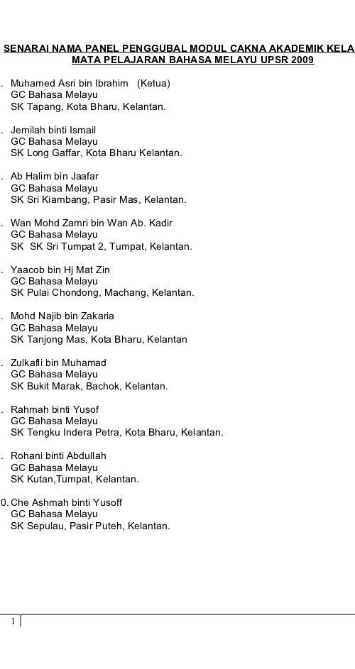 Nota Bahasa Melayu Tahun 6 Yang Penting Modul Latihan Bahasa Melayu Upsr