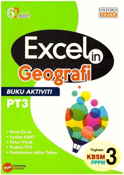 product image excel in geografi buku aktiviti pt3 tingkatan 3 kbsm