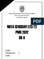 nota geografi tingkatan 1 2 dan 3 pmr