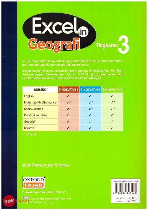 excel in geografi buku aktiviti pt3 tingkatan 3 kbsm