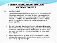 Nota Matematik Pt3 Yang Sangat Hebat 274122500 Teknik Menjawab Pt3 2015