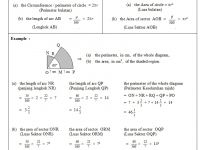 Nota Matematik Spm Yang Sangat Penting 10 Lilitan Perimeter Luas Bulatan Circumference Perimeter area