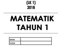 Nota Matematik Tahun 1 Yang Menarik Ujian 1 Matematik Tahun 1 2018