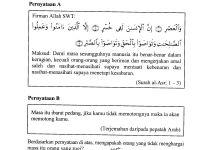 Soalan Peperiksaan Awal Tahun Pendidikan islam Tingkatan 1 Power Kalam Diri Cara Menjawab soalan K B A T