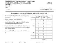 Soalan Peperiksaan Pertengahan Tahun Bahasa Melayu Tahun 4 Baik Peperiksaan Pertengahan Tahun 2011 Fizik