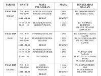 Soalan Peperiksaan Pertengahan Tahun Pendidikan Muzik Tingkatan 1 Baik Jadual Waktu Ujian 1 Tingkatan 2 Smk Taman Tun Dr ismail