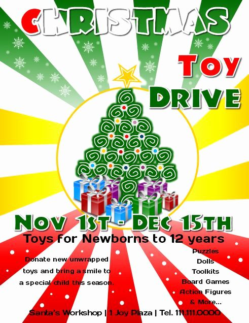 Charity Poster Terhebat toy Drive Flyer Template Lovely Flyer Free Templates Club Flyer