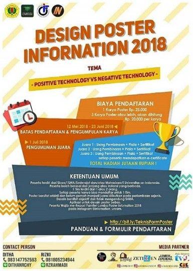 infornation 2018 lomba desain poster sma sederajat mahasiswa di unram