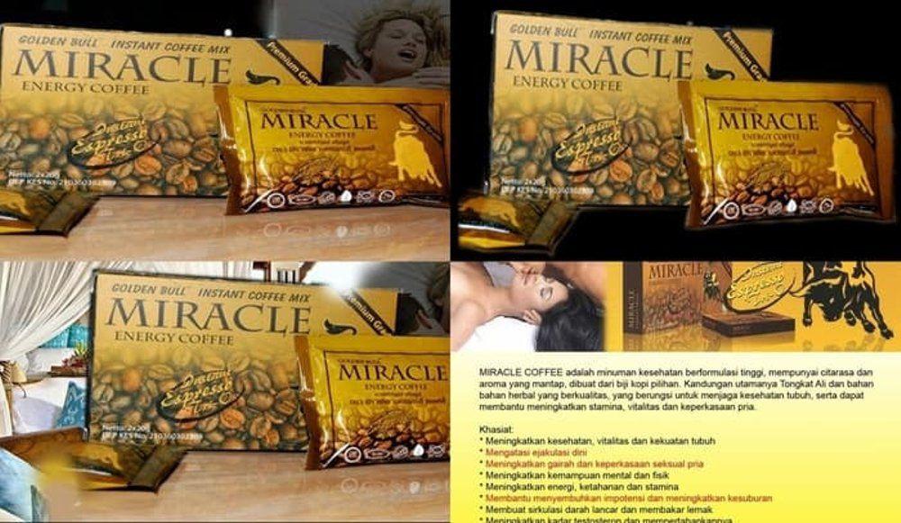 Contoh Poster Kesehatan Bernilai Jual Kopi Miracle Cap Banteng Murah Golden Bull Energy Coffee