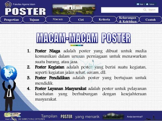 Contoh Poster Niaga Bernilai Poster Pengembangan Media Sumber Belajar