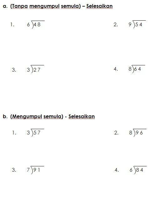 imej yang berkaitan tahini fractions maths malaysia worksheets alphabet alpha ilustrasi latihan bahagi matematik