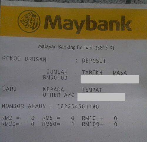 anda hanya perlukan bank in kan rm50 seperti gambar dibawah dan terus mendaftar di sini