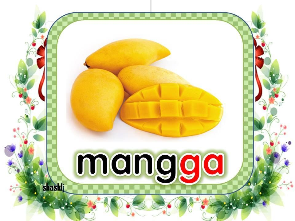 kad gambar buah buahan