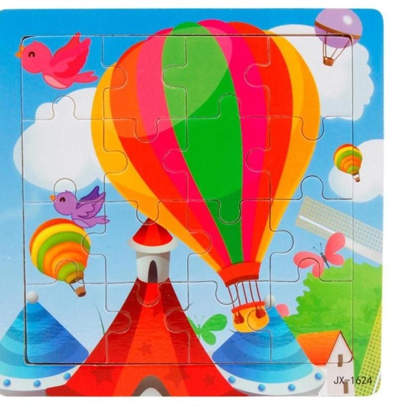 niosung baru lucu anak anak 16 piece jigsaw kayu mainan untuk anak anak teka teki mainan pendidikan dan pembelajaran