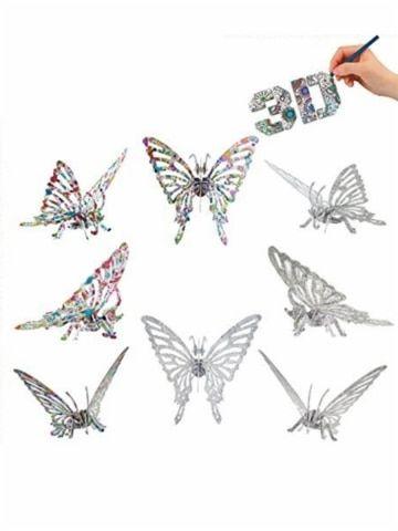 teka teki mewarnai 3d 16 26 pcselephant kupu kupu kuda hewan beredukasi mainan
