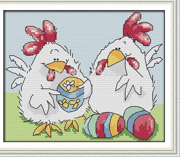 easter telur ayam lukisan dmc 14ct 11ct terhitung kit cross stitch bordir menjahit set hot sale grosir kapal gratis