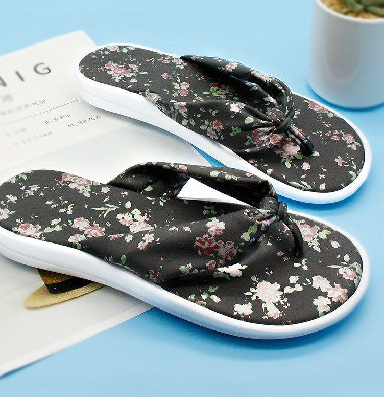 gienig 2018 sandal kasual untuk wanita musim panas fashion wanita dengan kaki lembut sol tumit datar tahan aus pantai floral sandal jepit