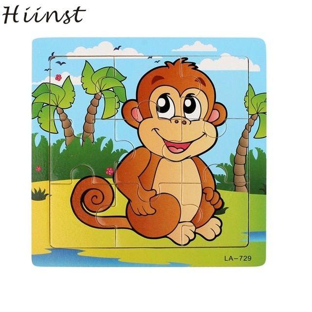 hiinst terbaik penjual kayu monyet puzzle pendidikan pembangunan bayi anak pelatihan mainan grosir aug11