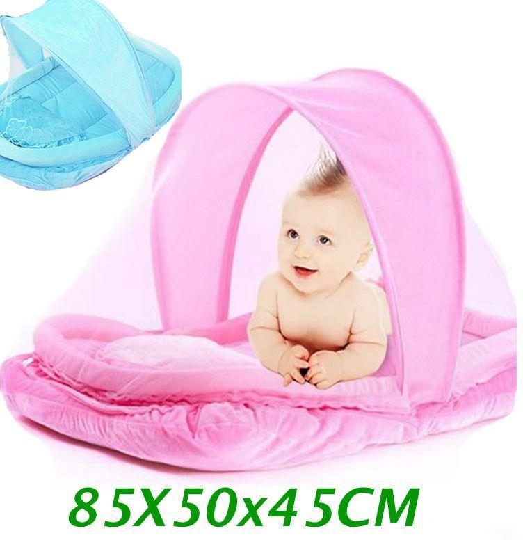indah pink biru baru lahir bayi nyamuk tempat tidur bayi tidur perjalanan portabel crib netting nyaman anak bayi kelambu tenda cp11