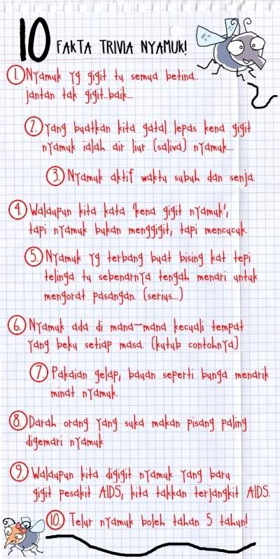 dear nyamuk 10 fakta trivia