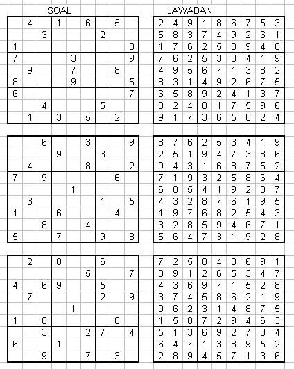 jawaban sudoku kompas cara menyelesaikan puzzle kubus teka teki kubus