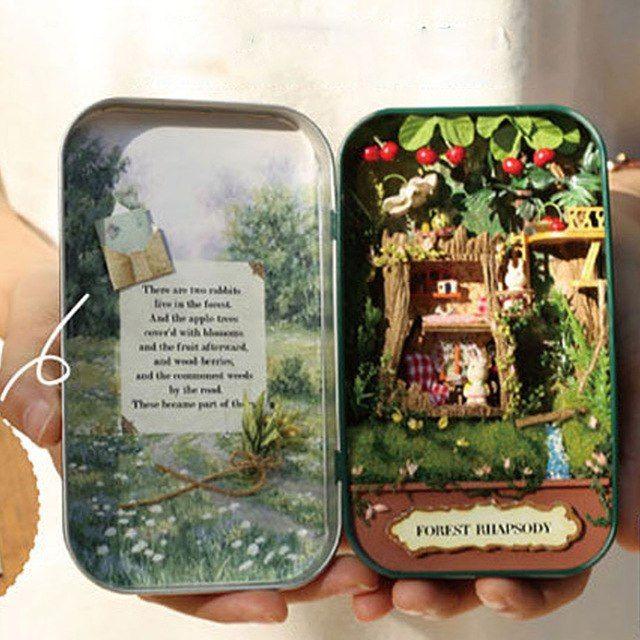 bagus rumah boneka diy miniatur teka teki kayu rumah boneka mebel mainan rumah doll ulang