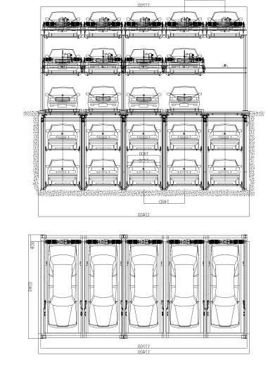 maoyuan 5 tahap dengan teka teki pit sistem lif parking mekanikal automatik