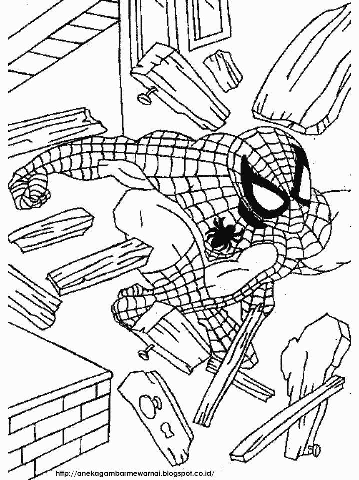 aneka gambar mewarnai gambar mewarnai spider man untuk anak paud dan tk pelajaran menggambar da