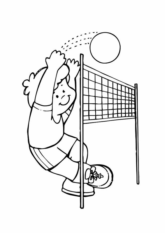 gambar mewarna sukan bola tampar