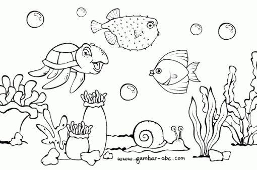 gambar pemandangan dasar laut