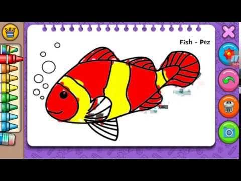 Gambar Mewarna Upin Ipin Terhebat Belajar Mewarna Gambar Ikan Fish Youtube