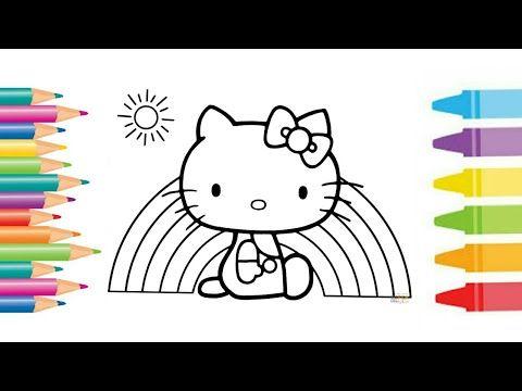 how to colour hello kitty coloring page belajar mewarna untuk kanak kanak