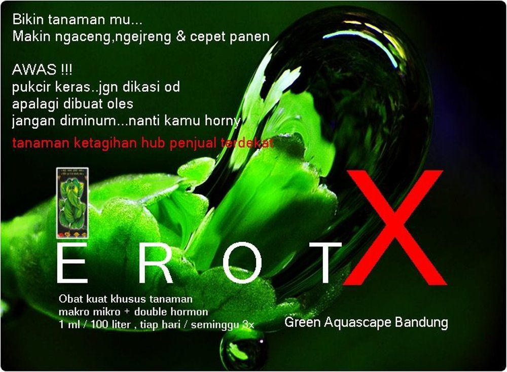 Gambar Poster Hemat Energi Berguna Jual Erot X 110ml Pupuk Cair Untuk Aquascape Di Lapak sonny